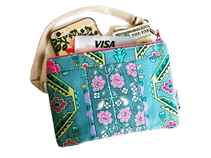 Handbags Made in USA - Turquoise Wristlet