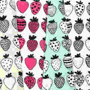 Strawberry Print Gifts - Fabric
