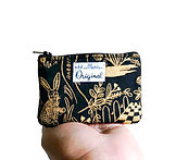 Black and Metallic Gold Change Purse.JPG