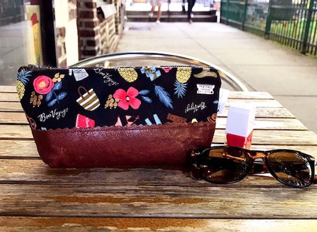 Expressing Good Wishes with Our Bon Voyage Leather Pouch
