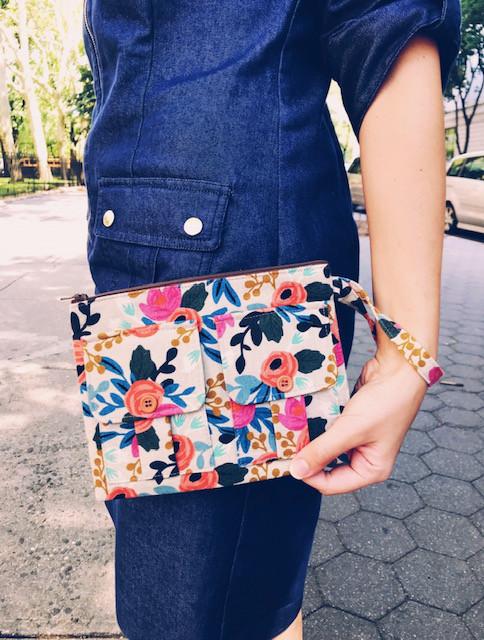 Wristlet Bag - Floral Print
