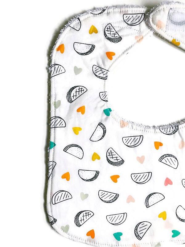 Baby Girl Bibs - Taco Print