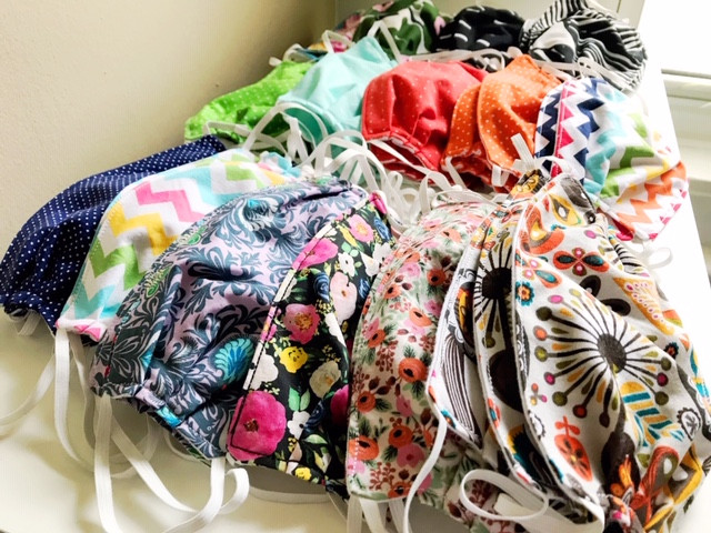 Fabric Face Masks Floral