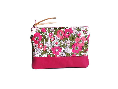 Meadow Pink Leather Coin Purse