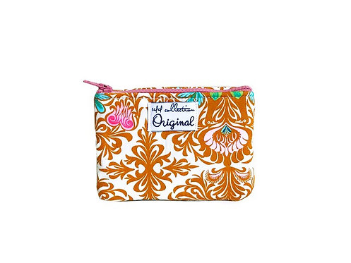 Brown Floral Change Purse