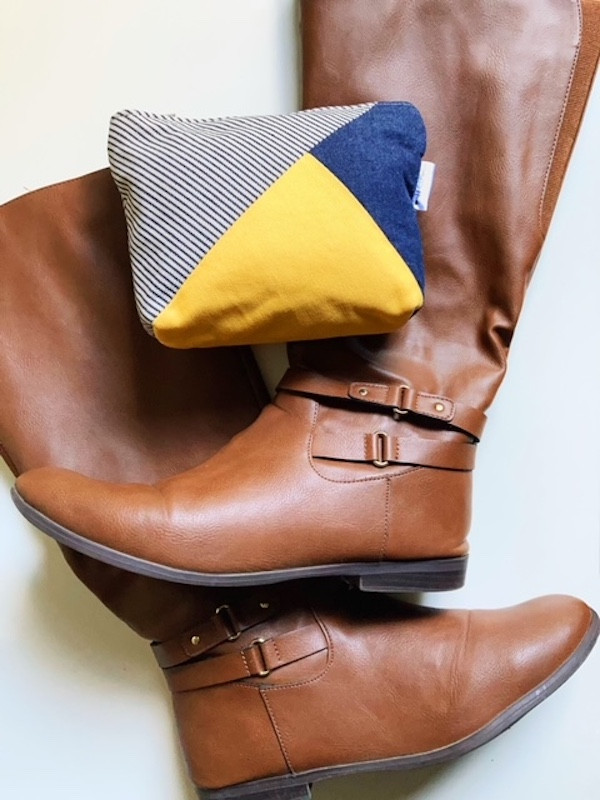 denim bag -blue and yellow