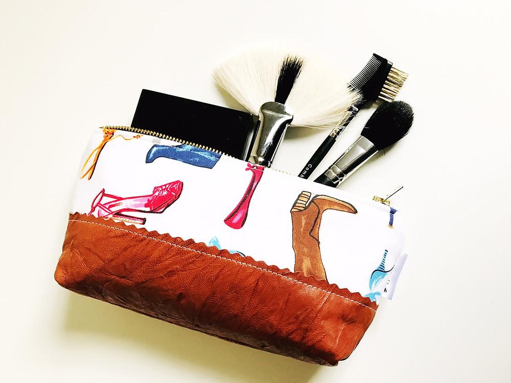 Handmade Makeup Bag Leather Shoes