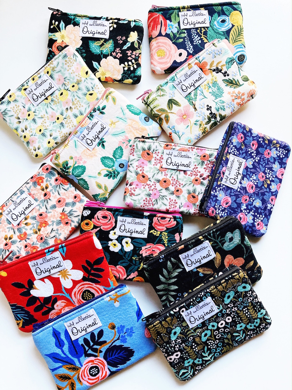small change purses - rifle paper co fabric