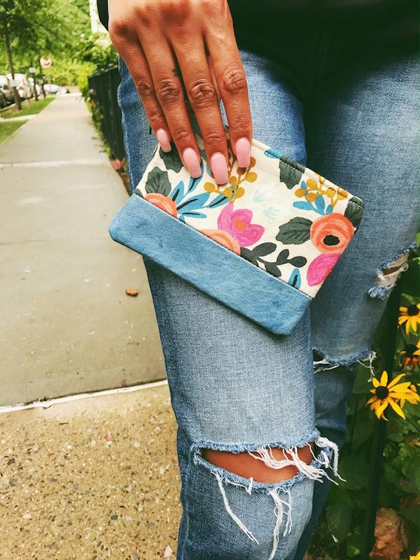 Amazon Prime - Blue Leather Floral Print