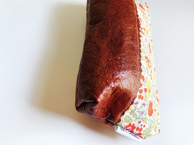 fashion trends 2021- leather pouch floral print