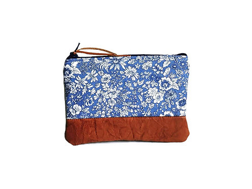 Emily Blue Leather Coin Pouch