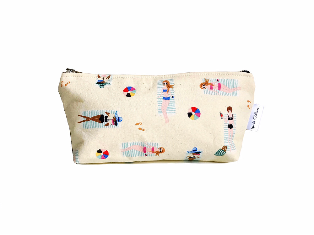 Makeup Bags Made in the USA - Girls on the Beach Print