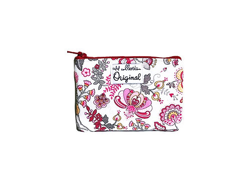 Floral Coin Purse - Red and Pink
