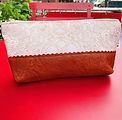 Lace and Leather Makeup Bag .jpg