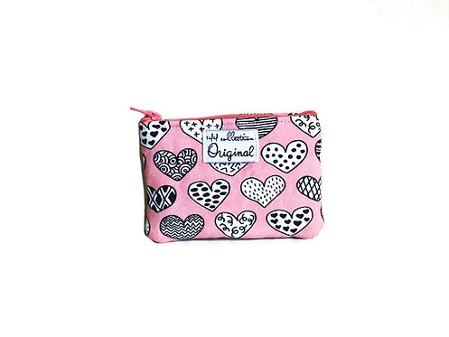 Hearts Pink Coin Purse Wallet