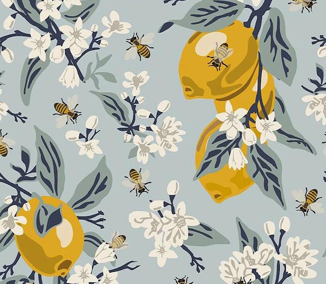 Bee Print Fabric