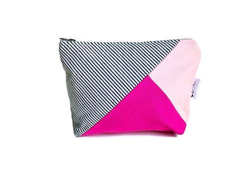 Pink Canvas Zipper Pouch