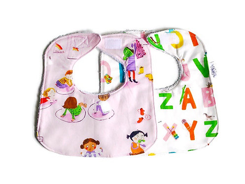 Baby Bibs Set - Kindergarten Bib Set - Dribble Bib