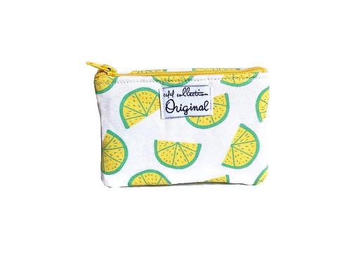 lime print coin purse wallet