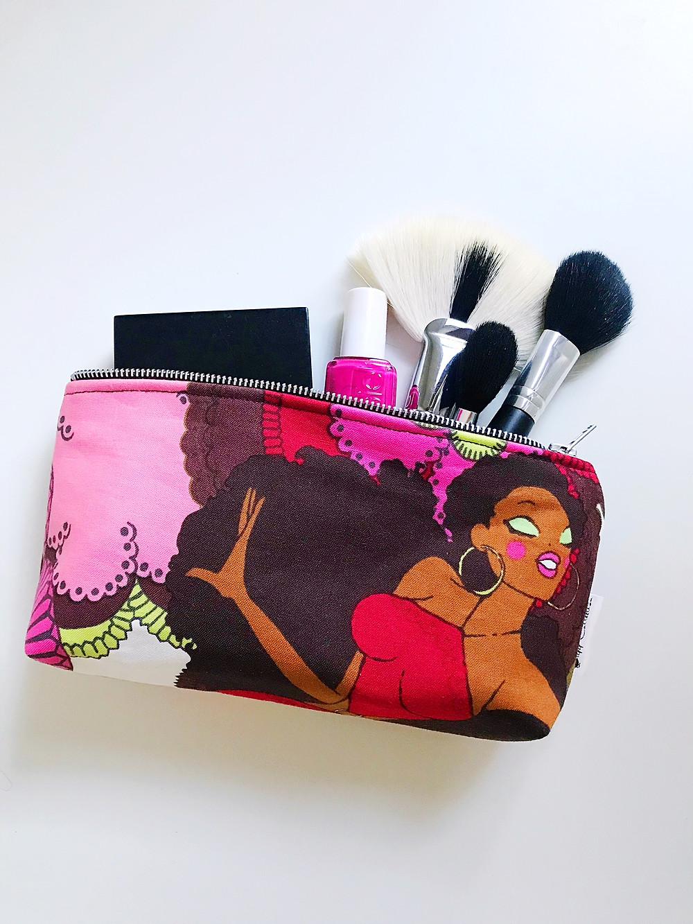 Handmade Bag - Soul Sisters Red Makeup Bag