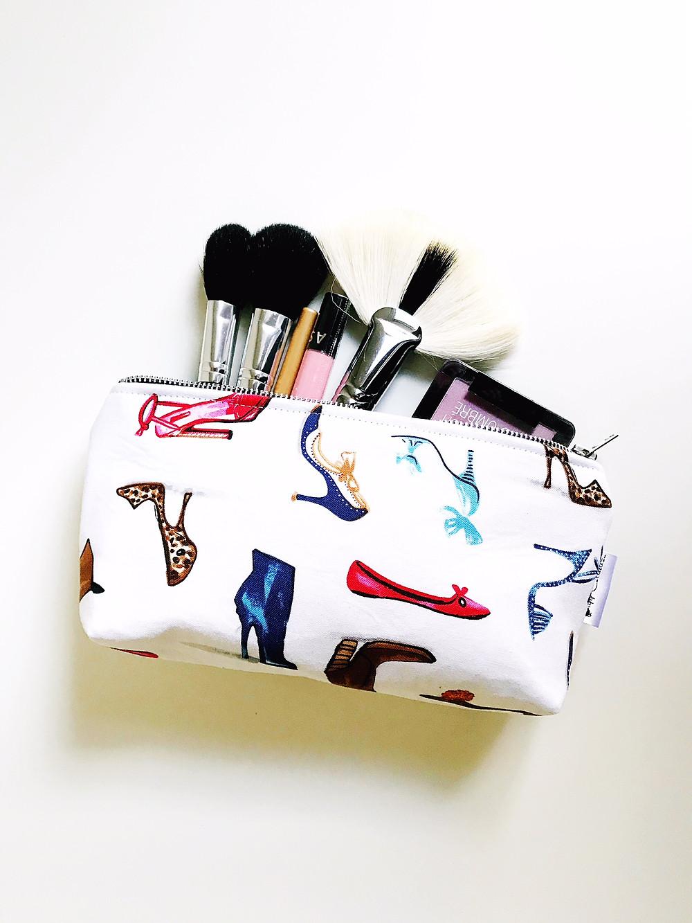 Ladies Shoes Makeup Bag
