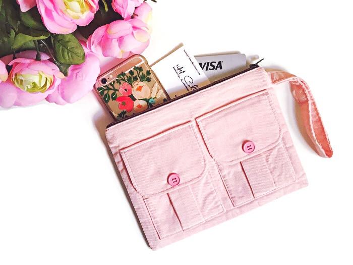 Handmade Wristlet - Pink