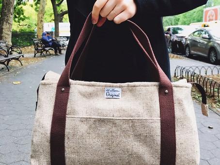 Handmade Handbags:  Brown Wool Tweed Tote Bag