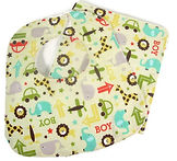 Oh Boy Yellow Bib Burp Cloth Set.jpg