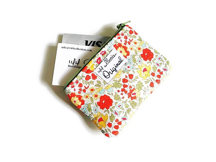 Green Coin Purse - Floral Print