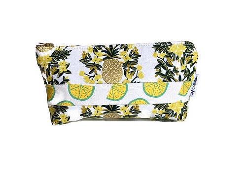 cosmetic pouch- tropical fruits