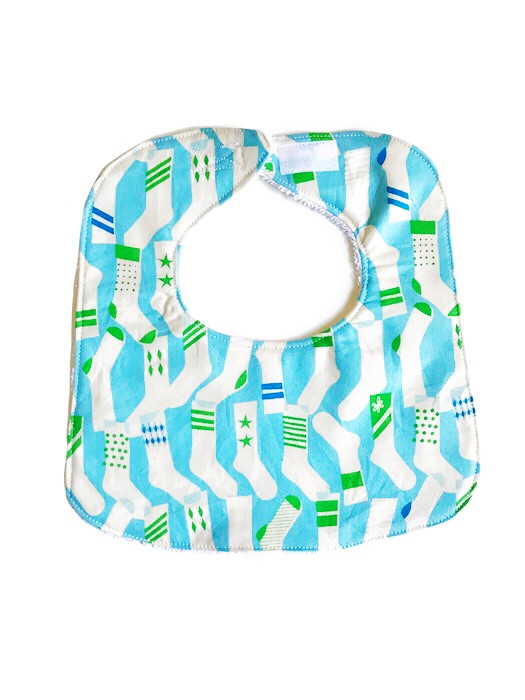 Baby Boy Bibs - Socks in Blue