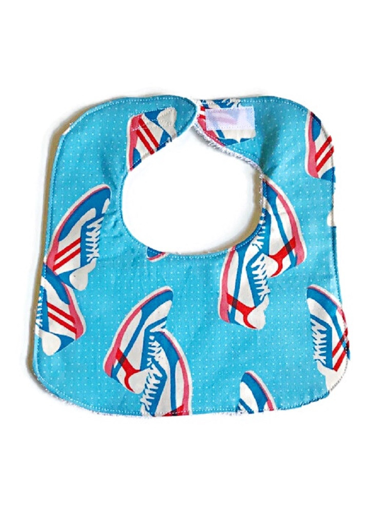 Baby Boy Bibs - Blue Sneakers Bib