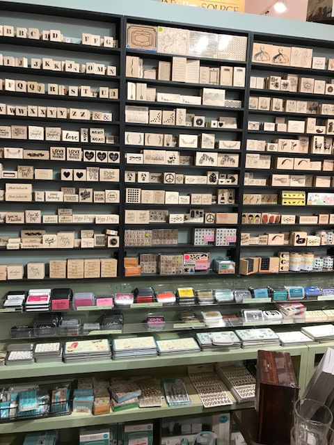 Handmade Card Making Rubber Stamps at the Paper Source