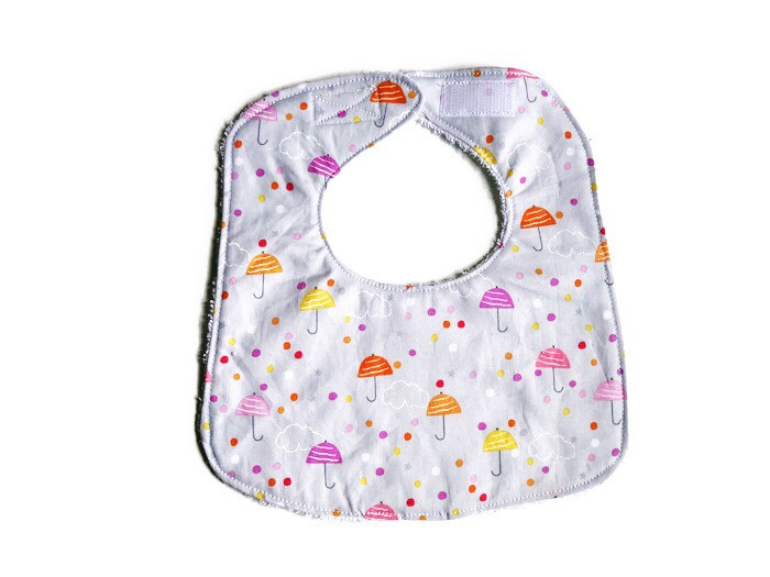 Baby Girl Bibs - Umbrella Print
