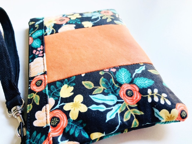 wallets for women - black and orange