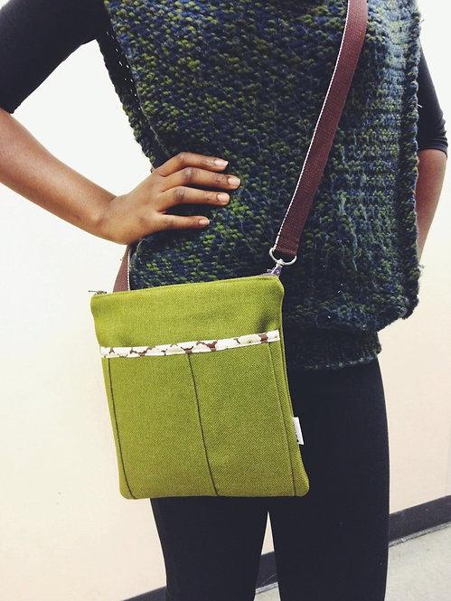 Women's Crossbody Bag - Handmade Green Crossbody Purse - Messenger Bag