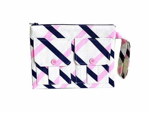 Striped Pink Wristlet Wallet