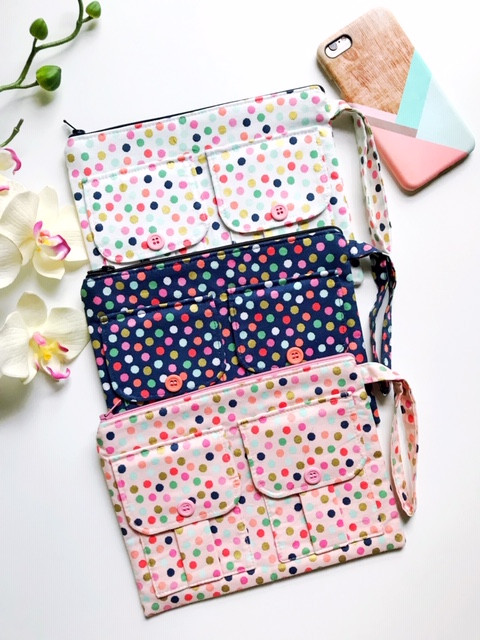 Wristlet Wallets - Polka Dot Prints Set of 3