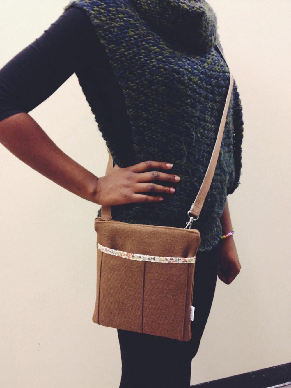 Handmade Bag - Brown Crossbody Bag