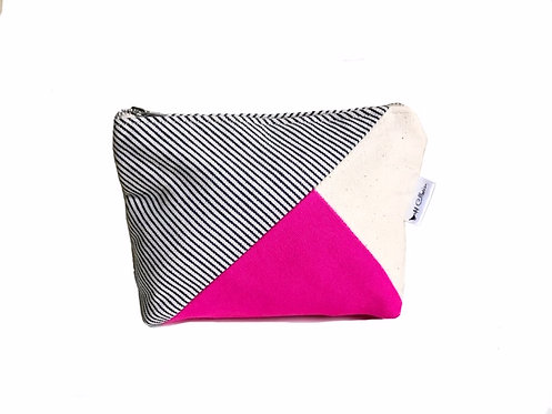 Fuchsia Canvas Makeup Bag