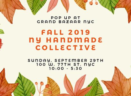 Handmade Gifts: Fall 2019 NY Handmade Collective Pop Up