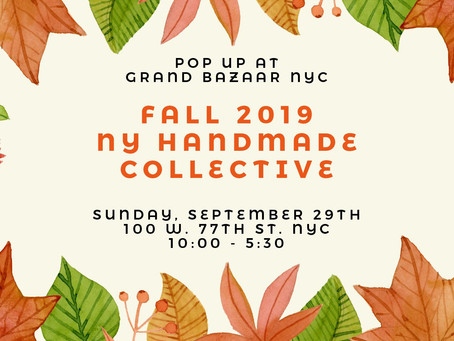 Handmade Gifts: Fall 2019 NY Handmade Collective Pop Up