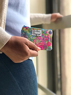 small wallets for women - pink floral pr