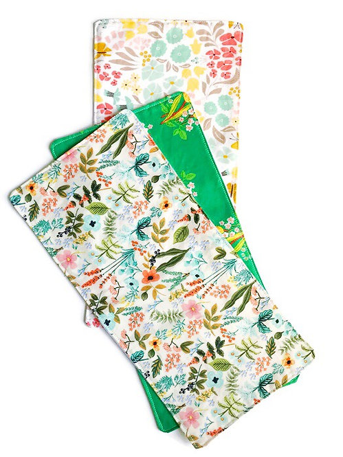 Baby Girl Burp Cloths - Floral Prints