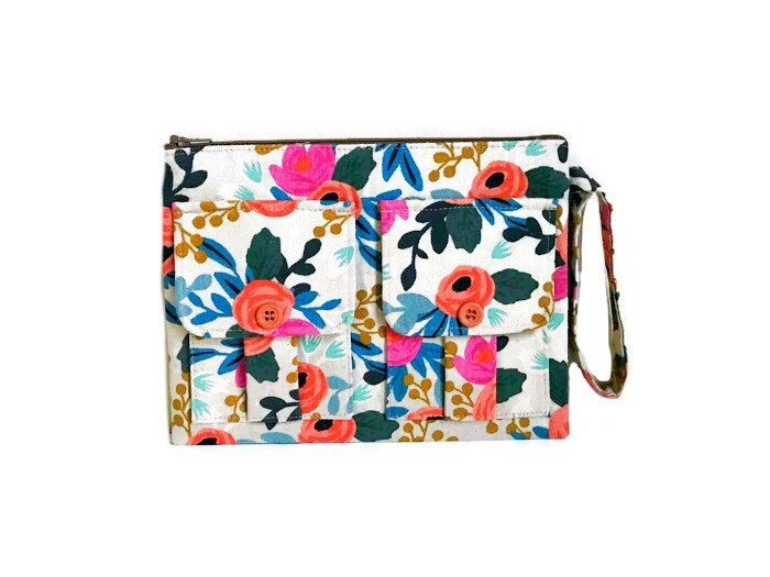 mothers day gift - floral wristlet