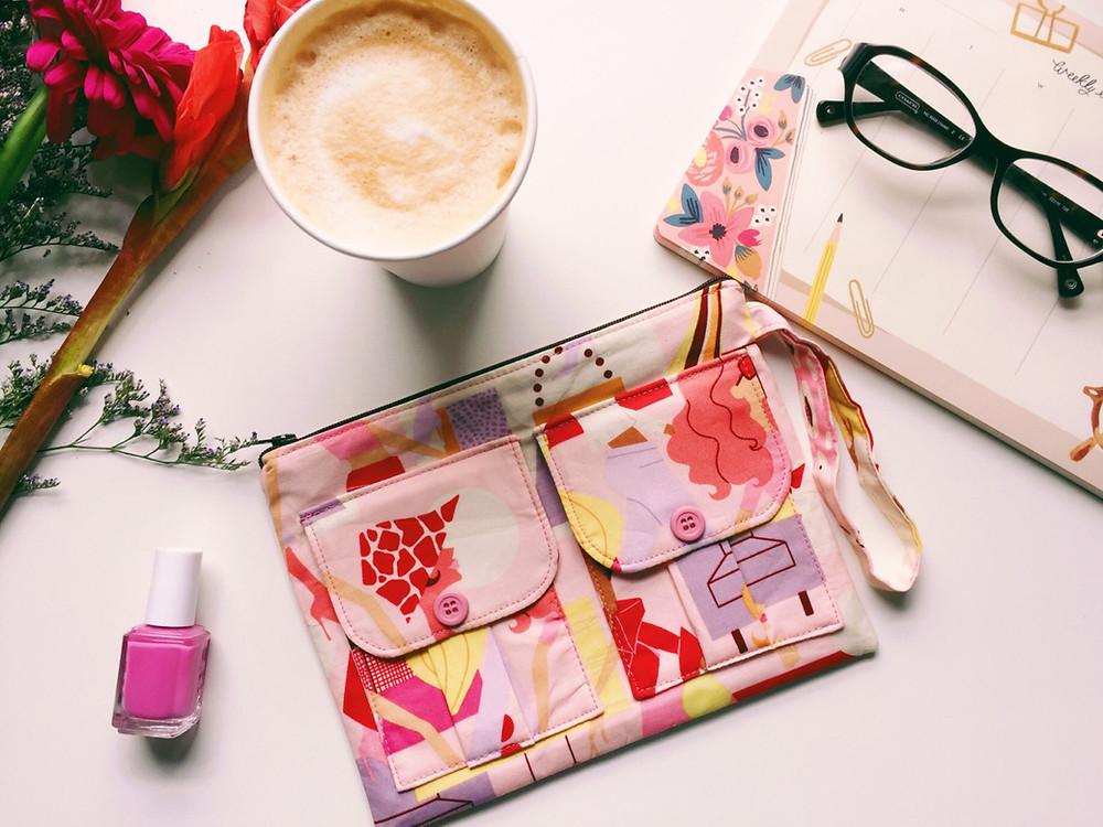 Wristlet Wallet - Pink Fashion Ladies
