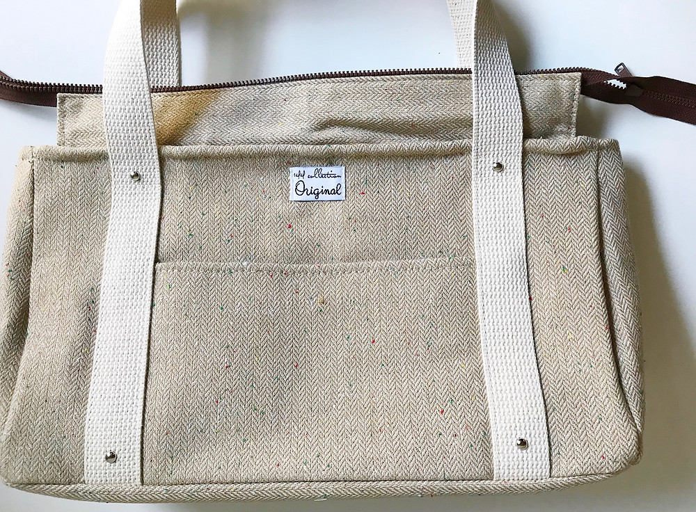handmade handbag - wool tote bag