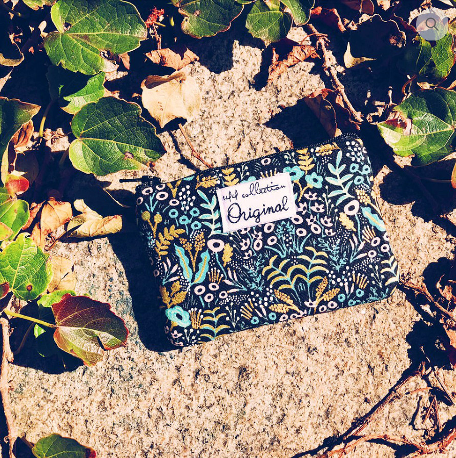 Handbags Made in USA - navy and turquoise coin purse