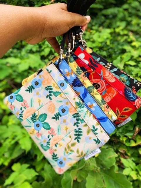 wristlet purses - floral prints