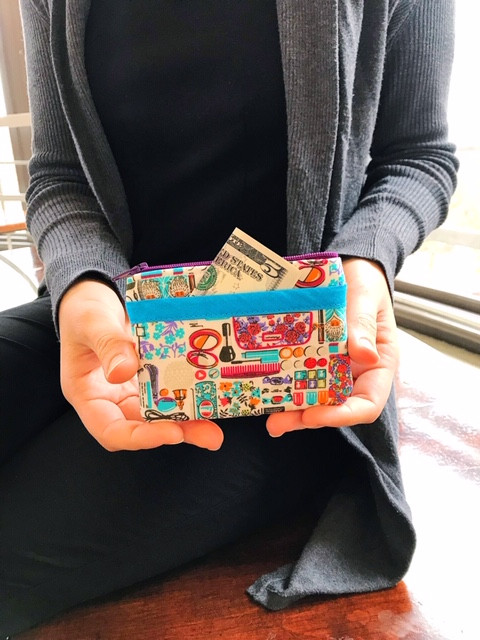 stocking stuffer for women - cosmetic print coin purse